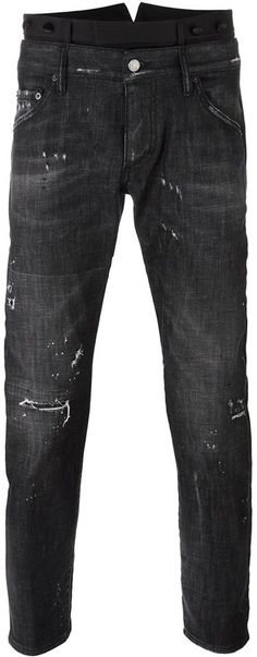 Dsquared2 dual waistband skinny jeans Distressed Jeans, Dsquared2, Skinny Jeans, Stylish, Pants, Men, Accessories, Tops, Fashion
