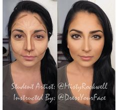 Face contouring tutorial :  makeup