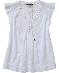 tunic w/ quilted yoke & ruffled sleeves ++ scotch & soda