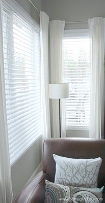 6 Agreeable Cool Tips: Bamboo Blinds Modern blinds for windows cottage.Blinds For Windows With Transoms blinds for windows with transoms.Blinds For Windows Home Depot. Living Room Blinds, Wood Blinds Living Room, White Faux Wood Blinds, Window Treatments Living Room, Home, Family Room Windows, Living Room Wood, Living Room Windows, Home Decor