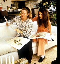 Princess Grace and Princess Caroline.