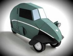 1948`s Fend Flitzer Three-Wheeled Paper Model - by Kamaboko - == -  This 1948`s Fend Flitzer Three-Wheeled paper model was created by Japanese designer Kamaboko. The Fend Flitzer was a three-wheeled invalid carriage designed and built by Fritz Fend. The Fend Flitzer established many of the basic concepts on which Fend's later Messerschmitt Kabinenroller microcars were developed. About 250 Flitzers were built between 1948 and the end of production in 1951.