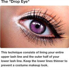 "Eyeliner style: ""The Drop Eye"""