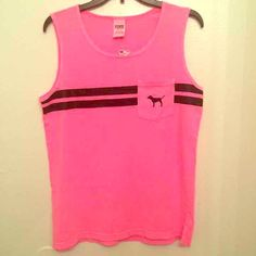 NWT VS muscle top MEDIUM Pink color, brand new with tags! Medium PINK Victoria's Secret Tops Muscle Tees