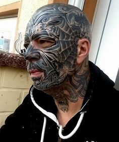 Amazing Face Tattoos Designs For Mens – Best Tattoos In The World, Best Tattoos For Me, Best Tattoos For Men, Best Tattoos Designs, Best Tattoos Ideas Full Body Tattoo, Body Tattoos, Sleeve Tattoos, Tatoos, Face Tattoos For Men, Tattoos For Guys, Large Tattoos, Black Tattoos, Chest Tattoo