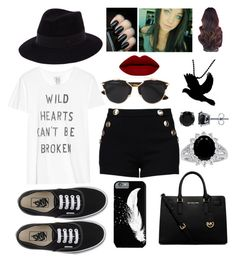 """Wild hearts can't be broken"" by blessed-with-beauty-and-rage ❤ liked on Polyvore featuring Zoe Karssen, Boutique Moschino, Vans, Maison Michel, Christian Dior, MICHAEL Michael Kors, BERRICLE, women's clothing, women's fashion and women"