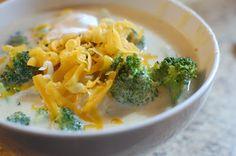 Broccoli potato cheese soup.