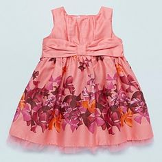Baker by Ted Baker Baby's coral floating bow dress - Day - Girls dresses - Kids - Debenhams Mobile