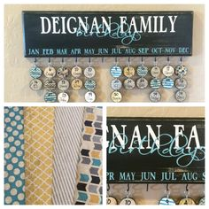 Family Celebration board . Family Birthday Board . Special Dates . Calendar . Sign . Family Birthday Wall Hanging . Mother's Day Gifts