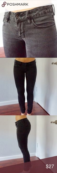 Bull head skinny jeans Length: short - acid wash black Bullhead Pants Skinny