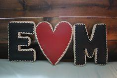 Heart letter Pillow / Vegan Leather & Crochet Edging / Joyful House Designs Letter Pillow, Heart Pillow, Bedroom Ideas, Bedroom Decor, Unique Home Decor, Joyful, Accent Pillows, Vegan Leather, Decorative Pillows