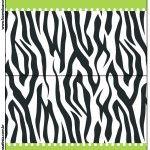 Cartão Agradecimento de Mesa Fundo Zebra e Poá Rosa: