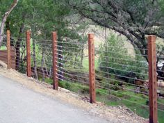 Cable Rail Fence by Arbor Fence, Inc. | Wire Fencing | Pinterest ...