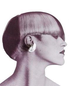set of two Modernist white pierced earrings / Avant Garde Design Earrings Triangle Earrings, Triangle Shape, Pierced Earrings, Postmodernism, White Enamel, 1980s, Modern Design, Etsy, Vintage