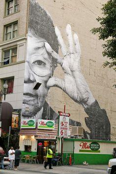 Street art - JR + Vhils - Los Angeles