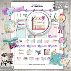 Scrapbooking Planner Stickers by www.YupiYeiPapers.etsy.com