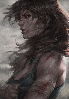 Lara Croft in Survivor by `Artgerm