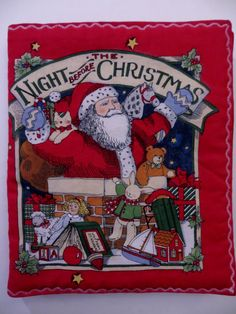 Soft Child's Book, The Night Before Christmas, Santa Christmas Story, Susan Winget for Fabric Traditions, Already Sewn by CatBazaar on Etsy