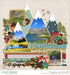 Travel Scrapbook Pages, Vacation Scrapbook, Scrapbook Page Layouts, Scrapbook Paper Crafts, Scrapbook Cards, Couple Scrapbook, Mini Albums Scrap, Layout Inspiration, Scouting