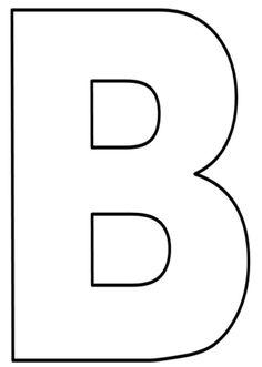 Moldes de Letras Grandes para imprimir - Atividades Para Professores