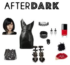 """after dark"" by jbillington ❤ liked on Polyvore featuring Yves Saint Laurent, Robert Clergerie, Daniele Alessandrini, Alexander McQueen, Fallon, Gucci, Karl Lagerfeld, Chanel and afterdark"
