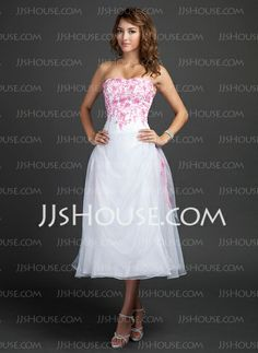 Homecoming Dresses - $169.29 - A-Line/Princess Sweetheart Tea-Length Organza Homecoming Dress With Embroidered Ruffle Beading (022015347) http://jjshouse.com/A-Line-Princess-Sweetheart-Tea-Length-Organza-Homecoming-Dress-With-Embroidered-Ruffle-Beading-022015347-g15347