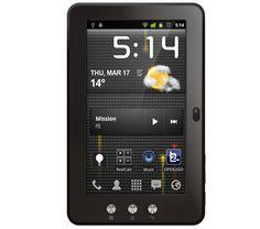 """Das Internet-Tablet MID74C von Mpman lastet das System Android 4.0 Ice Cream Sandwich voll aus und bietet ein kapazitives 17,8 cm (7"""") Display.    Das Tablet ist mit der WLAN ausgestattet und erleichtert die Kommunikation und das Surfen im Netz. Die 3G Ready Funktion erlaubt den Anschluss eines 3G-Schlüssel (optional erhältlich) an dem Mpman Tablet."""