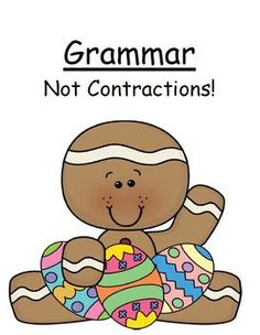 """FREE!!! 22 Paged Grammar - """"Not"""" contraction with cute Easter Theme! Both color and b!"""