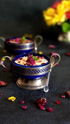 Mhalbi à la Rose Harira, Rose, Desserts, Greedy People, Tailgate Desserts, Pink, Deserts, Postres, Dessert
