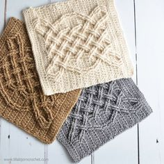 Celtic crochet square - free pattern by Lilla Bjorn