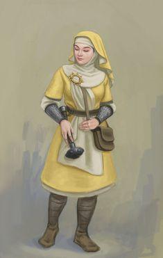 Cleric of Pelor by Bergholtz.deviantart.com on @DeviantArt