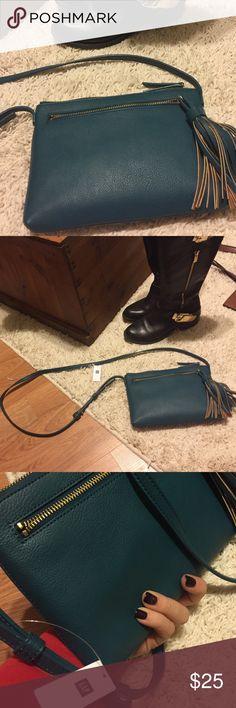 New gap blue tassel purse New blue tassel bag from gap GAP Bags Crossbody Bags