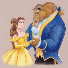 Colored pencil drawing~ Beauty and The Beast #coloredpencils #disney #drawing #beautyandthebeast #childhood #bella #beast #art #disneyart #fabercastell #polychromos https://www.facebook.com/EwelinaKuczeraArt/ IG: ewelina.kuczera