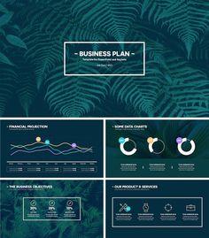 modern business plan powerpoint template 01 ppt pinterest