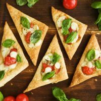 Easy Crescent Roll Caprese Foccacia