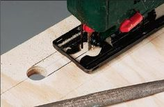 Cutting away waste from footboard handle