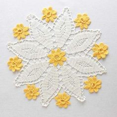 Picture of Vintage Floral Doilies: Set 1 Crochet Pattern
