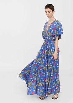 Vestido floral borlas