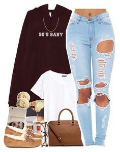 """90's Baby - No. 603"" by dessboo ❤ liked on Polyvore featuring Michael Kors, Givenchy, H&M, Case-Mate, MICHAEL Michael Kors, ZeroUV, UGG Australia, Sterling Essentials, women's clothing and women"