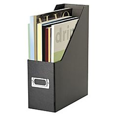 magazine file letter size black by office depot collapse and store flat if desired 750 each cep ice magazine rack
