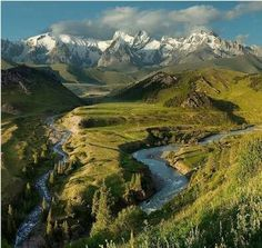 Beautiful Kyrgyzstan landscape