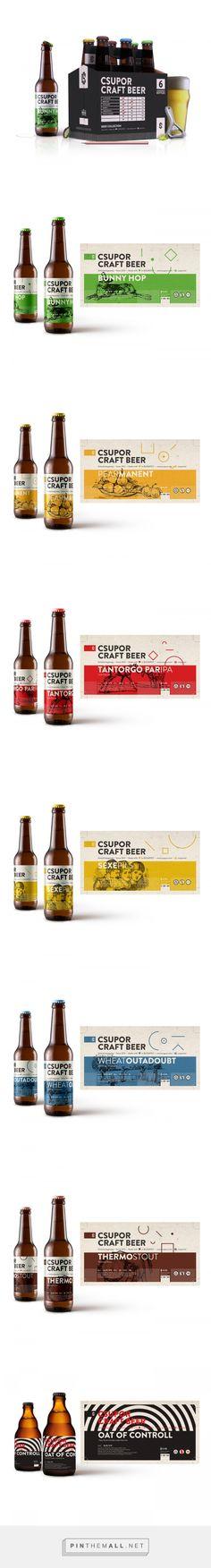 Csupor Craft Beer - Packaging of the World - Creative Package Design Gallery - http://www.packagingoftheworld.com/2017/08/csupor-craft-beer.html
