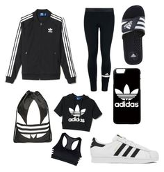 """""""P.E outfit"""" by teendesgindiva on Polyvore featuring adidas"""
