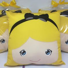 New Designer Dresses, Alice In Wonderland Theme, Colourful Cushions, Sewing Pillows, Crochet Pillow, Kids Pillows, Tea Party, Pikachu, Plush