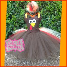 Fall Tutu Dress 6mo4t Thanksgiving Tutu Dress by BellaLiliBowtique