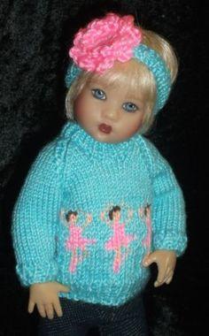 Handknit-Blue-Aqua-Ballerina-Sweater-Set-for-Kish-Riley-by-Sue