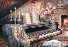 Diy Digital Oil Painting Oil Painting By Numbers Kits Piano Frameless Canvas Home Wall Decor -- Check this awesome product by going to the link at the image. Canvas Home, Diy Canvas, Wall Canvas, Wall Art Pictures, Pictures To Paint, Painting Pictures, Music Pictures, Oil Painting On Canvas, Diy Painting