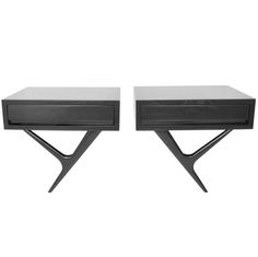 Rare Wall Mounted Nightstands by Eugenio Escudero. Mexico c.1950's | From a unique collection of antique and modern night stands at http://www.1stdibs.com/furniture/tables/night-stands/