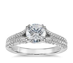 Colin Cowie Heirloom Pavé Diamond Engagement Ring in Platinum (2/3 ct. tw.)