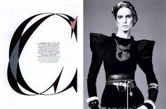 Vogue Paris Editorial Carrure Culte, December/January 2008 Shot #1